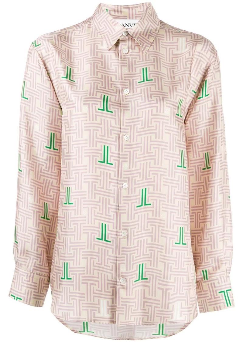 Lanvin JL labyrinth print shirt