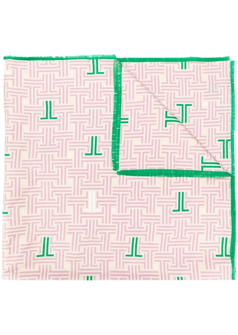Lanvin JL logo square scarf