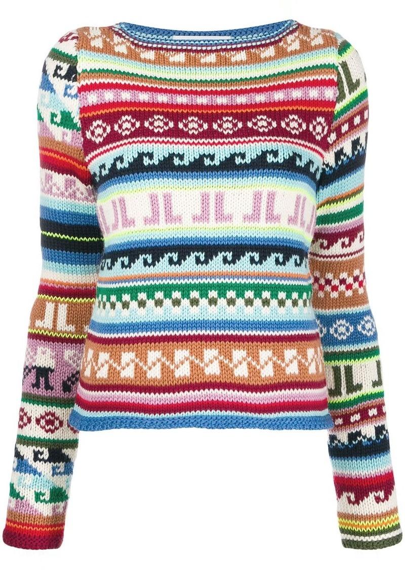 Lanvin JL monogram intarsia jumper