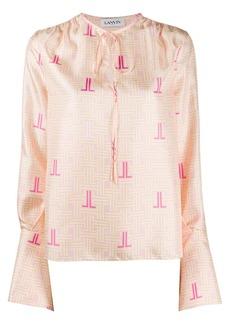Lanvin JL print blouse