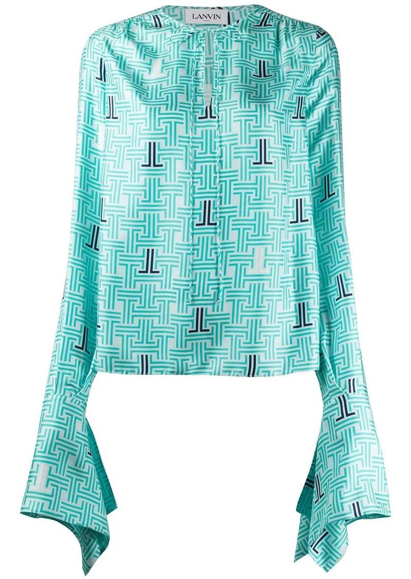 Lanvin JL printed blouse