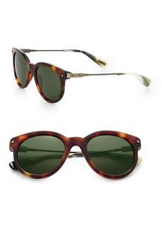 Lanvin 49MM Tortoiseshell Acetate Round Sunglasses
