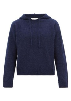 Lanvin Alpaca, cashmere and silk hooded sweater
