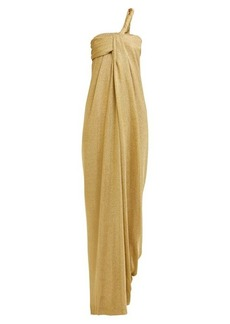 Lanvin Asymmetric draped knitted gown