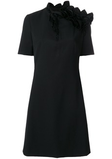 Lanvin asymmetric ruffle dress - Black