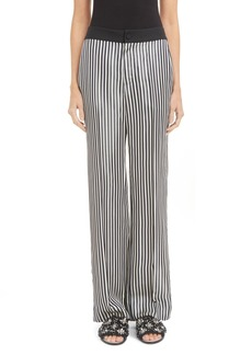 Lanvin Bachette Stripe Wide Leg Pants