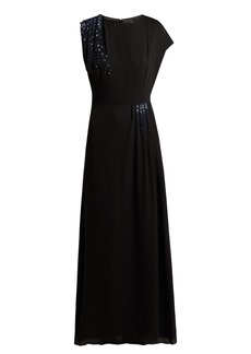 Lanvin Beaded silk-georgette gown