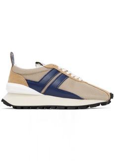 Lanvin Beige Mesh Bumper Sneakers