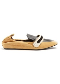 Lanvin Bi-colour suede and leather flats