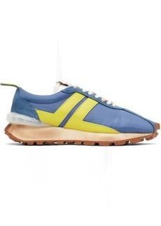 Lanvin Blue & Yellow Bumpr Sneakers