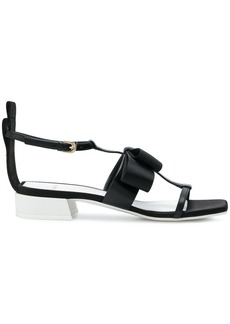 Lanvin bow detail sandals - Black