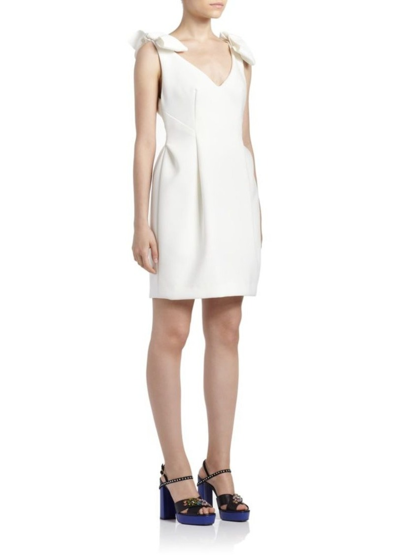 Lanvin Bow-Detail V-Neck Dress