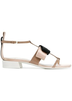 Lanvin bow open-toe sandals - Nude & Neutrals