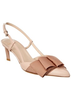 Lanvin Bow Slingback Leather Pump