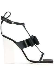 Lanvin bow strappy sandals - Black