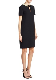 Lanvin Bow-Tie Embroidered Dress