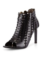 Lanvin Braided Leather Ankle Boot