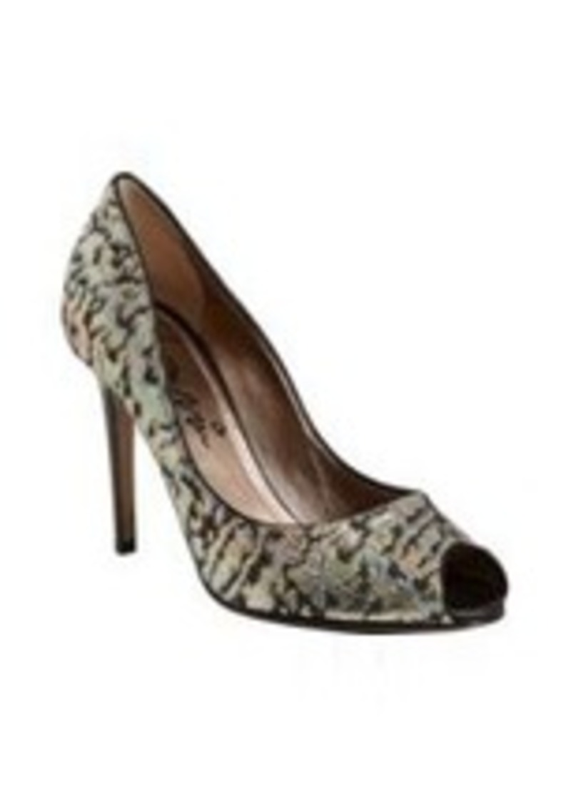 Lanvin Brocade Peep-Toe Pumps