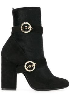 Lanvin buckle detail boots - Black