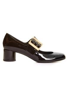 Lanvin Buckle-detail patent-leather shoes