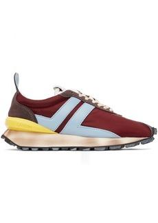 Lanvin Burgundy Nylon Bumper Sneakers