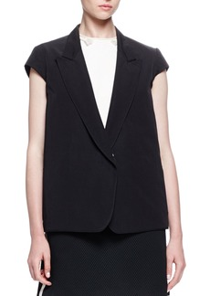 Lanvin Cap-Sleeve Button-Front Jacket