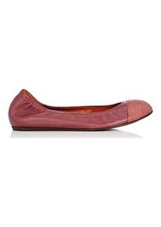 Lanvin Women's Cap-Toe Flats-BURGUNDY Size 6