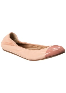 Lanvin Cap Toe Leather Ballet Flat