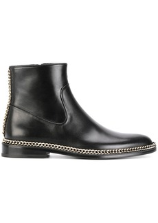Lanvin chain trim ankle boots - Black