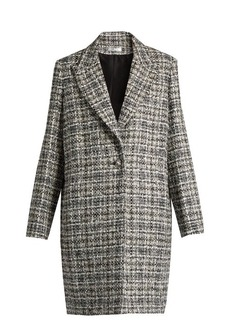 Lanvin Checked-tweed coat