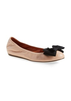 Lanvin 'Classic' Bow Ballerina Leather Flat (Women)