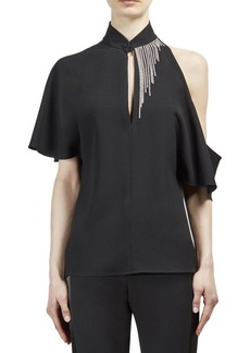 Lanvin Cold-Shoulder Top