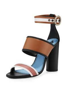 Lanvin Colorblock Leather 105mm Sandal