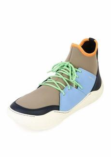 Lanvin Colorblock Neoprene & Leather Sneakers