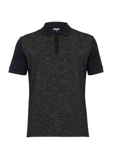 Lanvin Contrast-panel cotton-piqué polo shirt