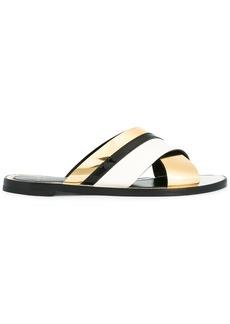 Lanvin criss cross strap sandals - Nude & Neutrals