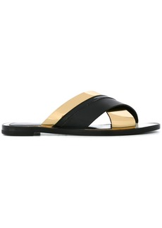 Lanvin crisscross strap sandals - Black