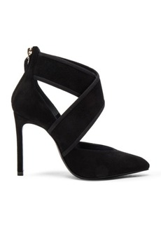 Lanvin Crisscross Suede Pumps