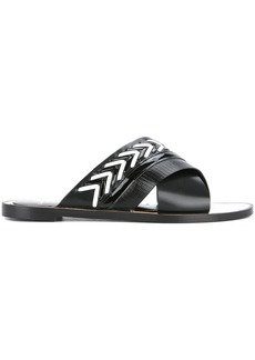 Lanvin crossover sandals - Black