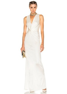 Lanvin Crossover Sleeveless Gown