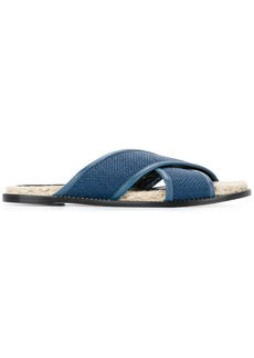 Lanvin crossover strap sandals - Blue