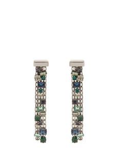 Lanvin Crystal-drop clip-on earrings