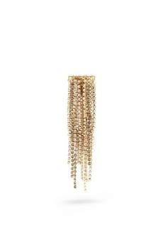 Lanvin Crystal-embellished fringed brooch