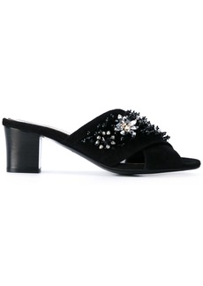 Lanvin crystal embellished sandals - Black