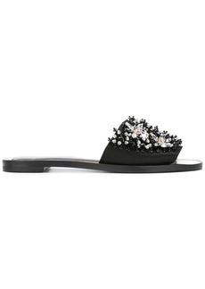 Lanvin crystal strap sandals - Black