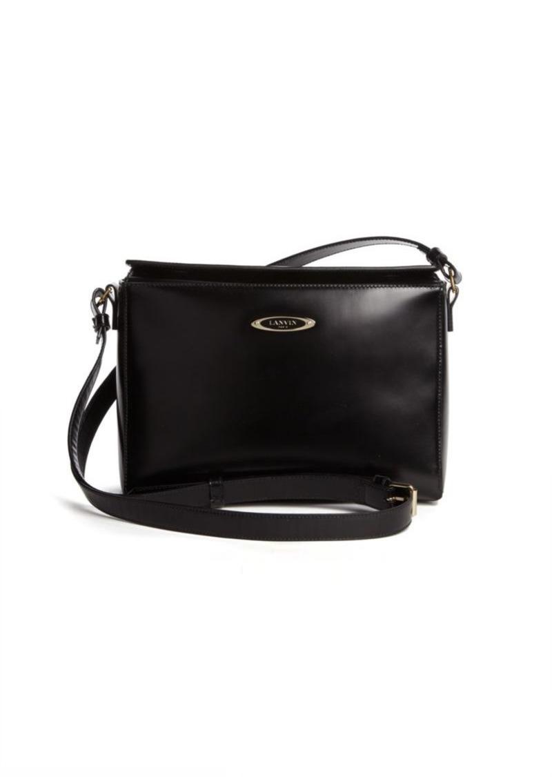 Lanvin Cube Mini Leather Shoulder Bag