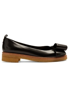 Lanvin Decorative-bow leather ballerina flats