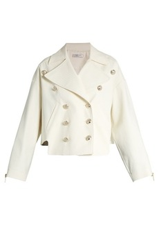 Lanvin Double-breasted cotton-blend gabardine jacket