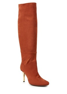 Lanvin Draped Nubuck Leather Tall Boots