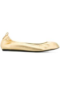 Lanvin elasticated ballerina shoes - Metallic